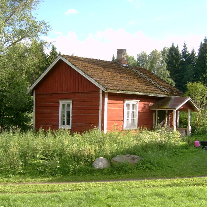 Red wooden cottage